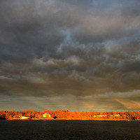 Stormy Skies over the Squantum Club, Narragansett Bay