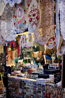 Lace Vendor, the Great Market, Budapest, Hungary
