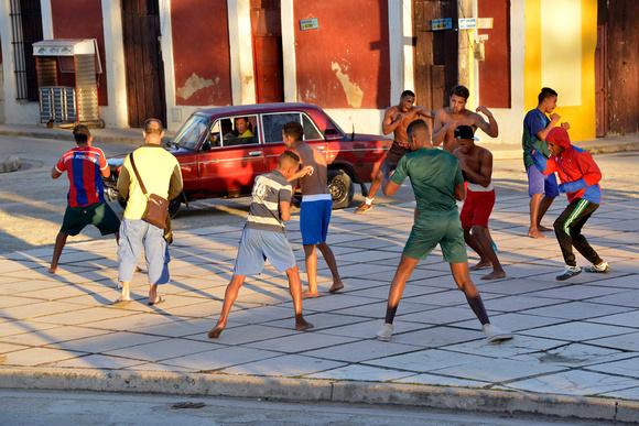 Boxing Practice in the Square, Gibara