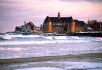 Narragansett Towers in magic light